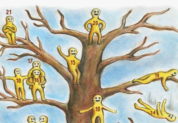 Pszichológiai teszt – Mit gondolsz, melyik kisember vagy a 20 közül erről az ábráról?