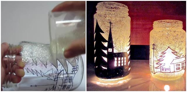 A leggyönyörűbb karácsonyi gyertyatartó üvegek! Készítsd el te is! – VIDEÓ