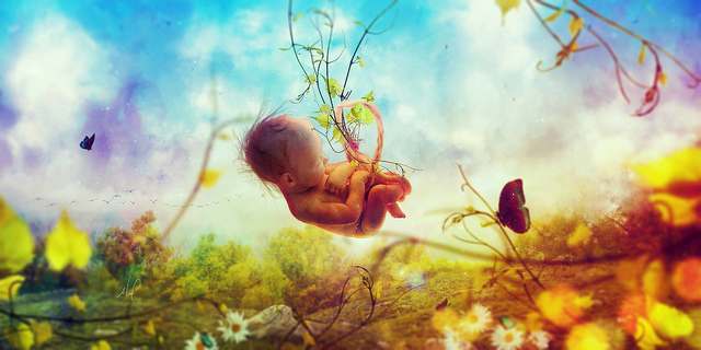 Létezik élet a születés után? Két ikerbaba beszélgetése az anyaméhben!