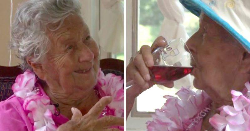 A 100 éves hölgy szerint a hosszú élet titka a borban rejlik!