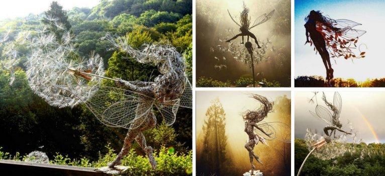 Varázslatos szobrokat készít Robin Wight szobrász. Igazi tündérországban találod magad