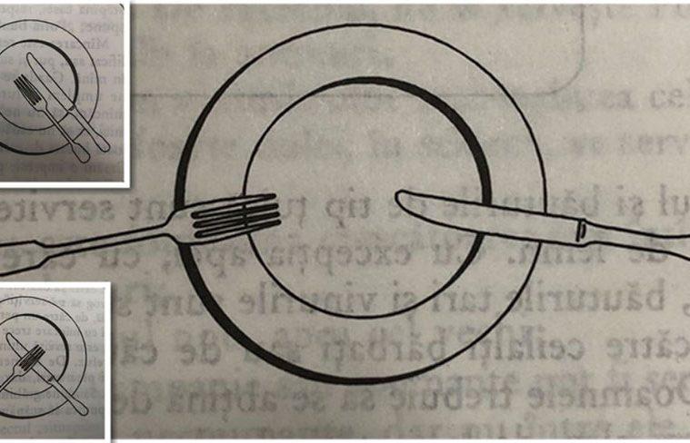 Nem mindegy, miként helyezed el az evőeszközöket a tányéron! Mindennek meg van a maga jelentősége!