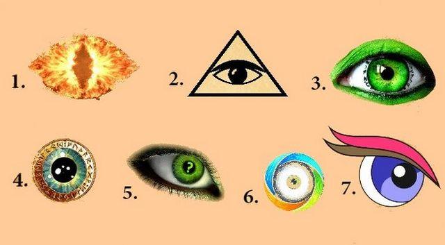 Válassz ki egy szemet a 7 közül és ismerd meg a tudatalattidban rejlő titkokat!