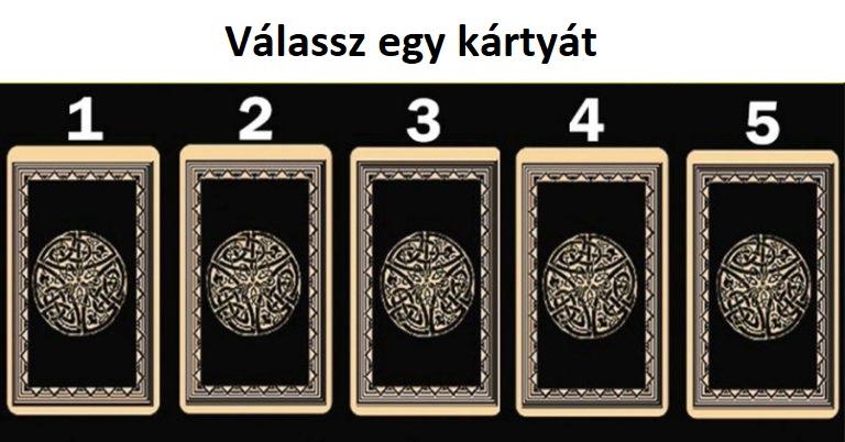 Válassz egy kártyát az ötből, és tudd meg milyen üzenete van számodra