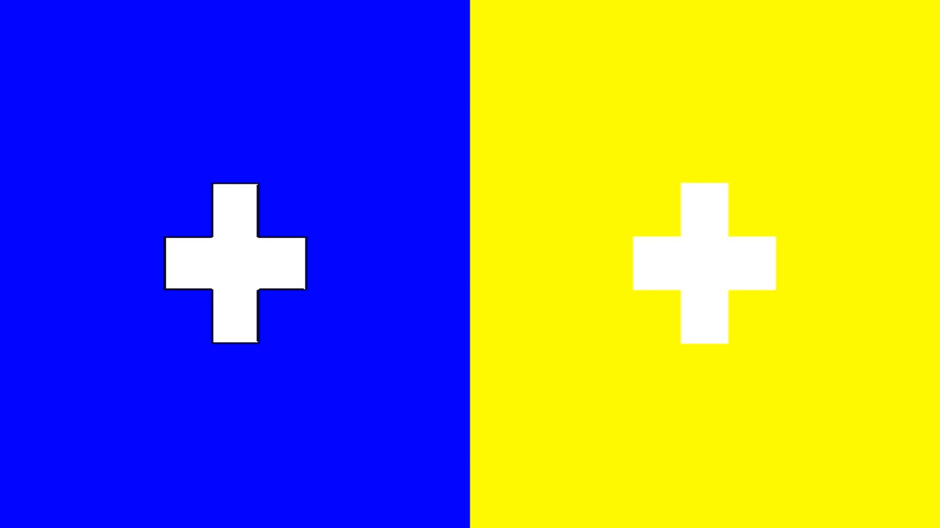 Nézd egy darabig a kék és sárga kockát, egy idő után olyan színt fogsz látni, amit eddig még soha