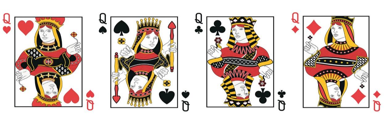 Melyik királynőt ábrázoló kártya illik hozzád? Válassz ki egyet anélkül, hogy sokat gondolkodnál!