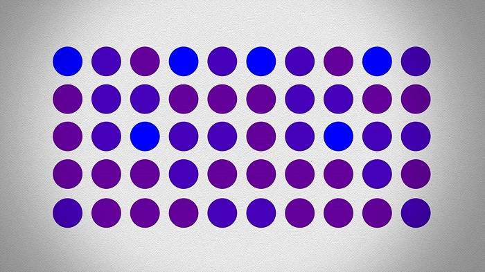 Ezek a pontok lilák vagy kékek? A válaszod nem biztos, hogy olyan megbízható, mint gondolnád