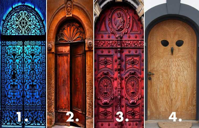 Nézz rá erre a 4 ajtóra, majd válaszd ki azt, amelyiken szívesen belépnél - Fontos dolgot árul el neked