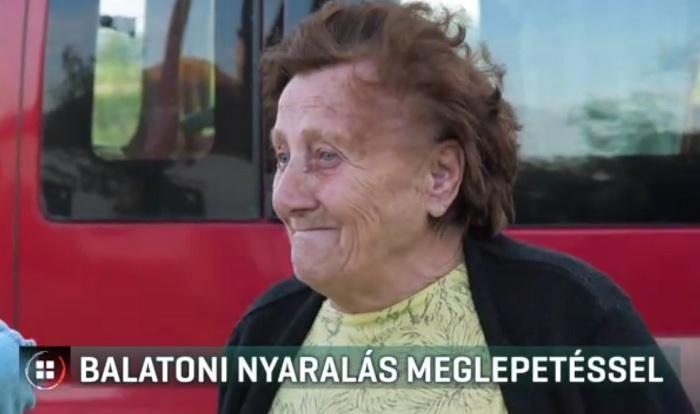 Miközben ő unokáival először nyaralt a Balatonon, lelkes segítők felújították a házát